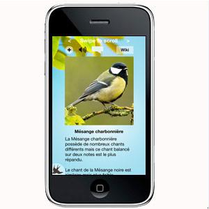 Applications pour smartphones pour saisir ses observations ou reconnaître les sons d'oiseaux