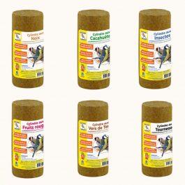 Ensemble de 6 cylindres à base de graisse végétale pour oiseaux
