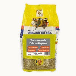 Graines de tournesol décortiquées pour oiseaux (1,8 kg)