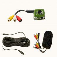 Kit vidéo pour oiseaux : caméra couleur filaire de 6 LEDs + accessoires