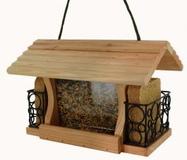 Mangeoire en bois Gourmet pour oiseaux