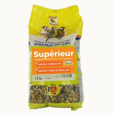 Mélange de graines de qualité supérieure pour oiseaux (1,8 kg)