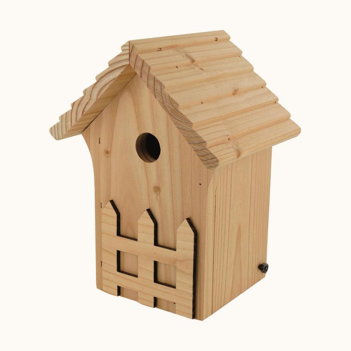Nichoir En Bois La Creche Pour Oiseaux Diametre D Entree De 28 Mm Ornithomedia Com