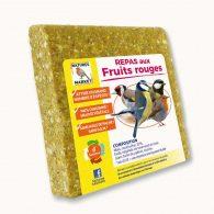 Repas pour oiseaux à base de graisse végétale : saveur fruits rouges