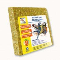 Repas pour oiseaux à base de graisse végétale : saveur insectes