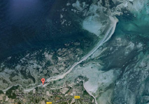 Vue satellitaire du Sillon de Talbert